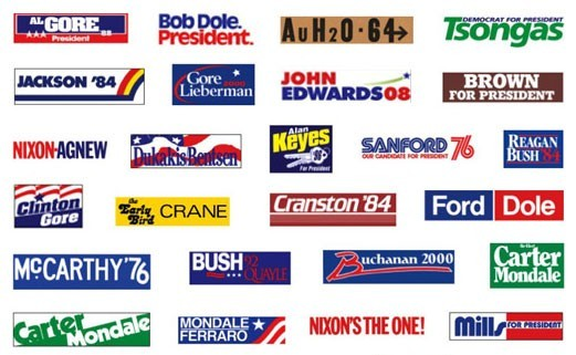 Presidential logos over the years